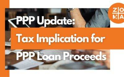 PPP Update: Tax Implication for PPP Loan Proceeds